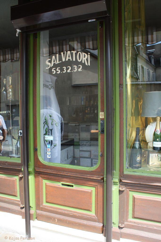 Madam Salvatoris butik, Epernay, Frankrike
