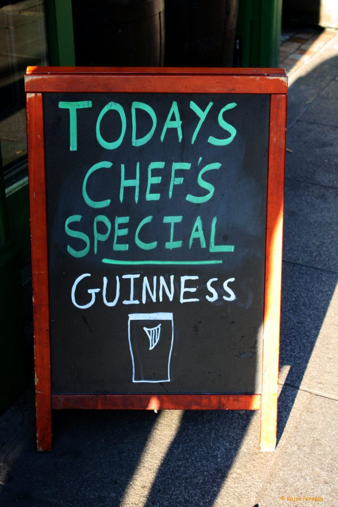 Todays chef´s special Guinness
