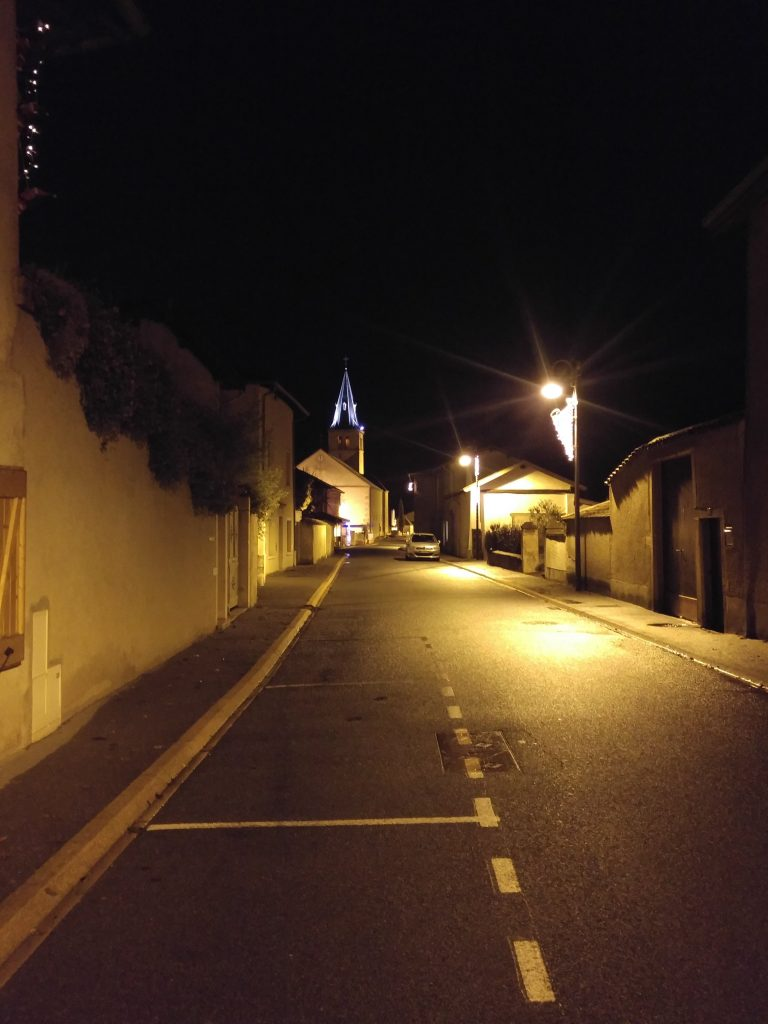 Corcelles en beaujolais by night