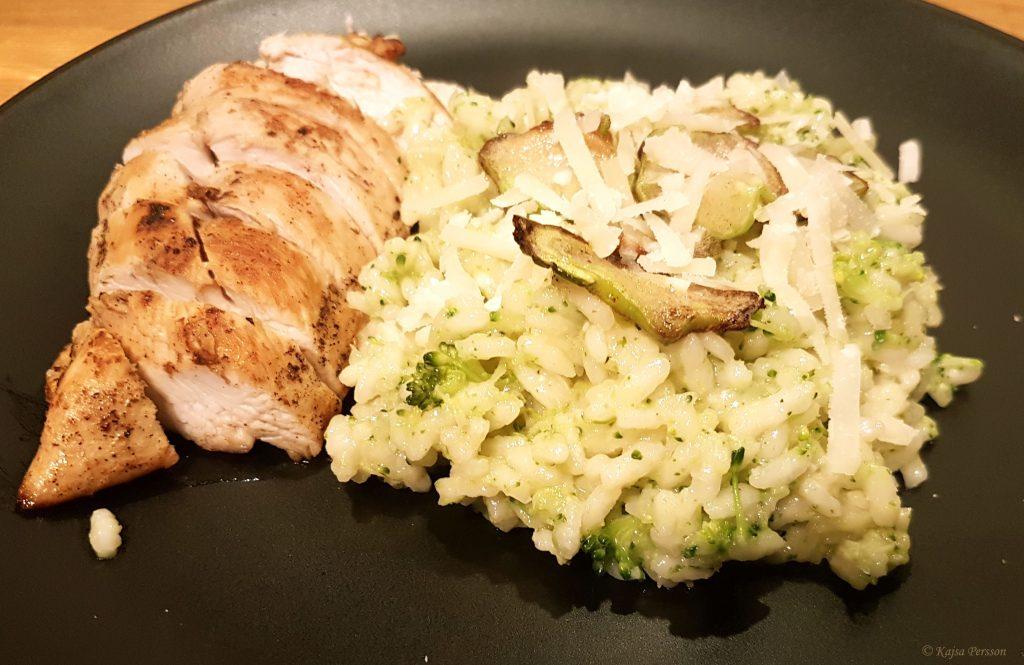 Broccolirisotto med Citron och kyckling