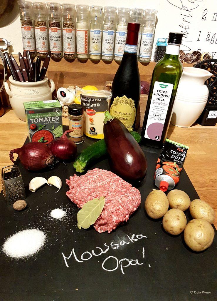 Ingredienserna till en syndigt god mousska