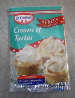 Creme of tartar gör marängsmeten fluffigare