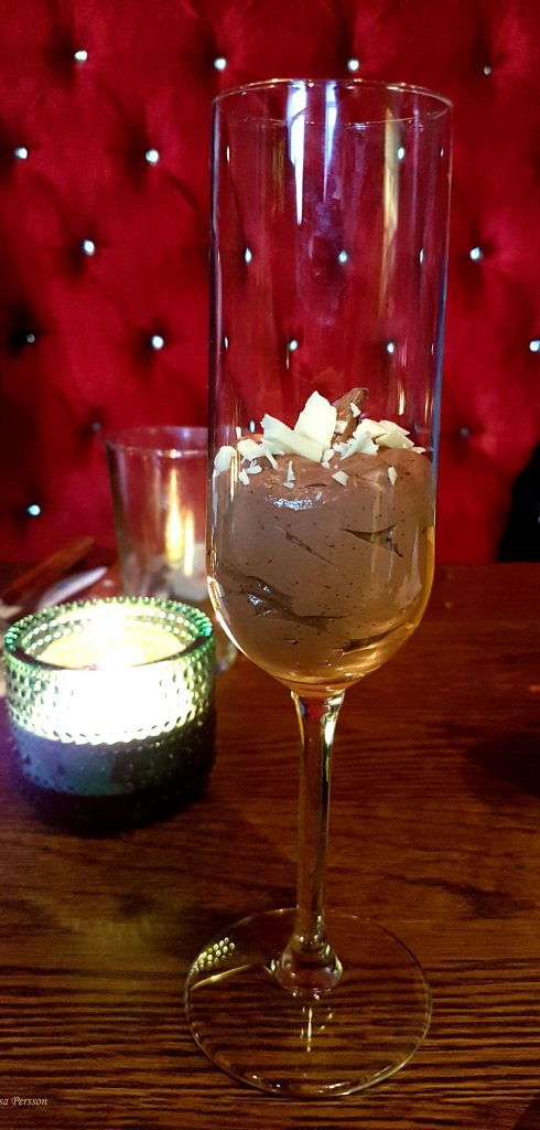 Läcker dessert i glas hos Gustav Adolf, Malmö
