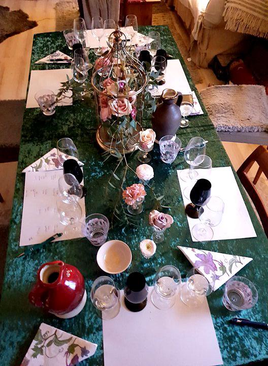 Lånad bild -Fantastisk vacker dukning av Catarina på Kreativt bord & blomster