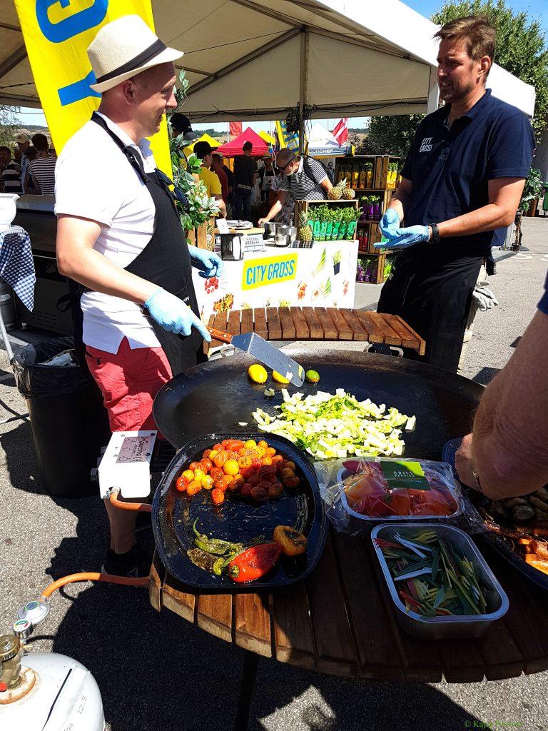 Grillade grönsaker på matfestivalen i Brösarp 2018