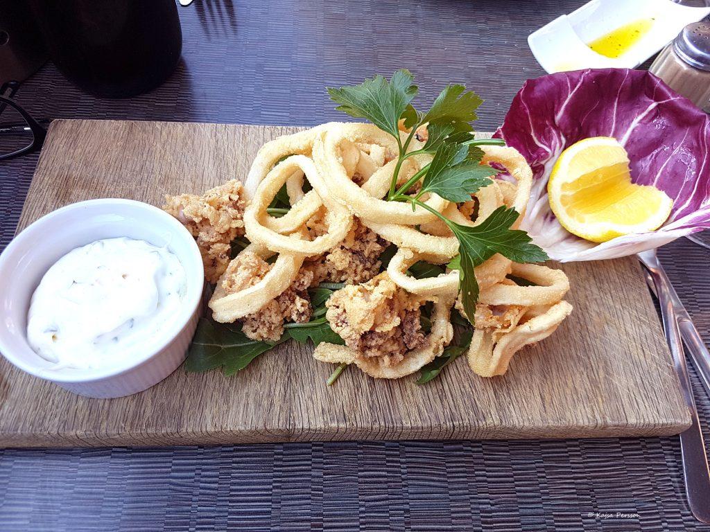 Calamari Fritti på två sätt hos Ostria Qui