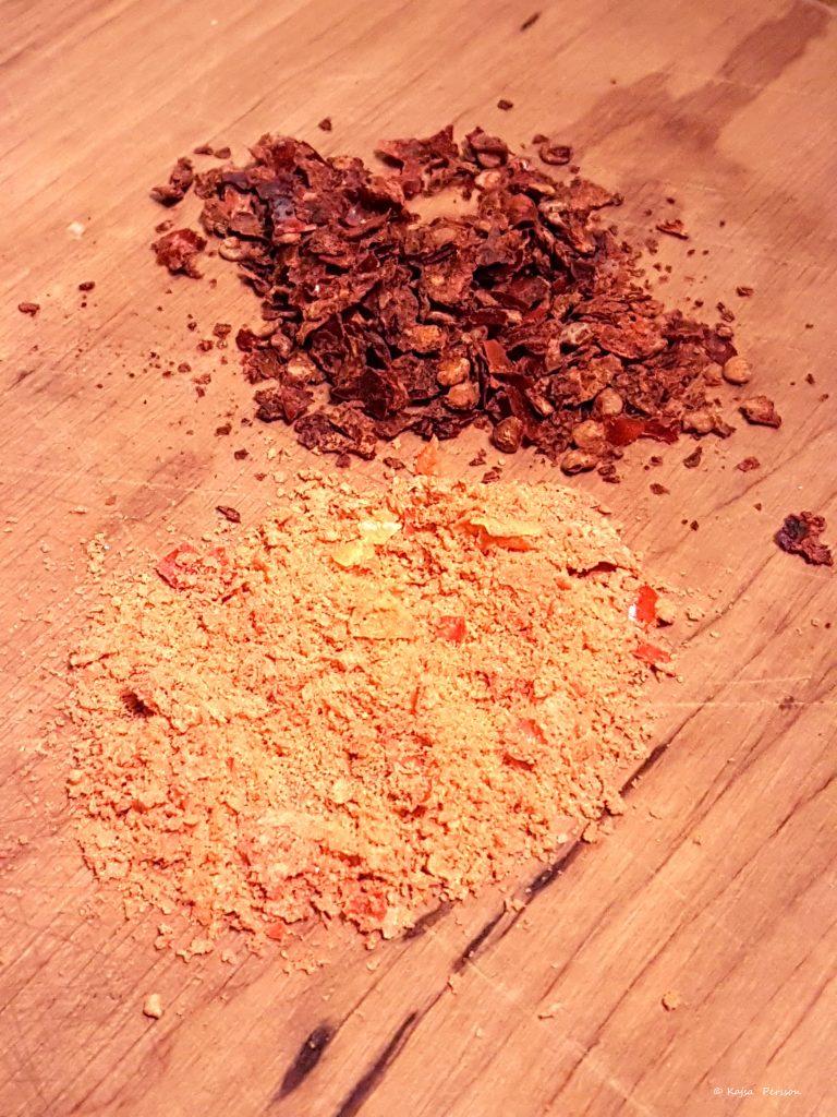 Rostad Sambal Oelek och Chili salt