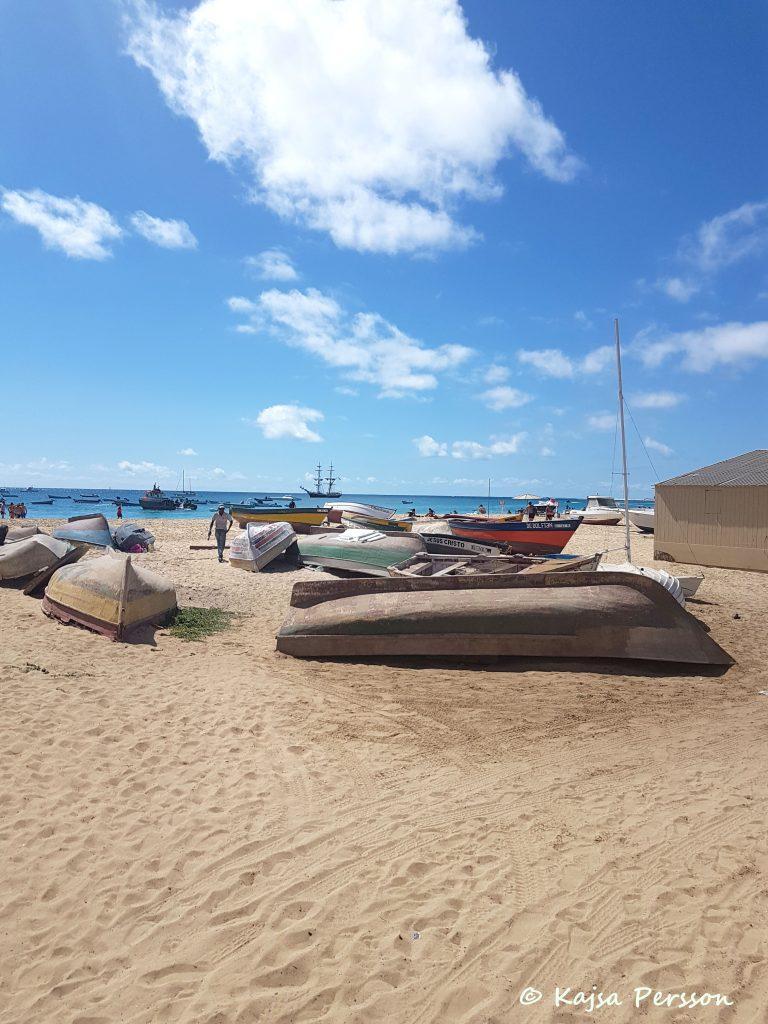 Fiskebåtar i Santa Maria, Kap Verde