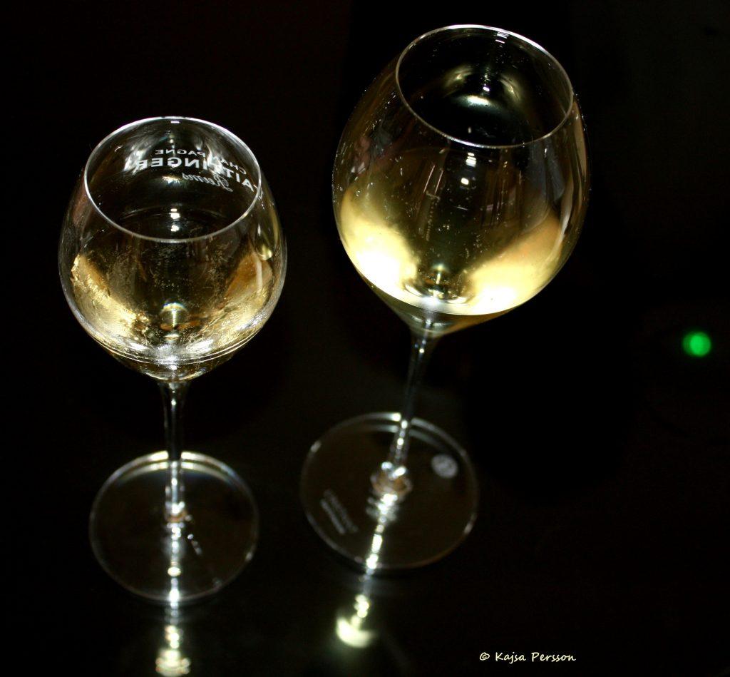 Två glas bubbel är nyttigt