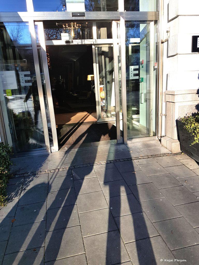 Ingången till Elite Plaza hotell i Malmö